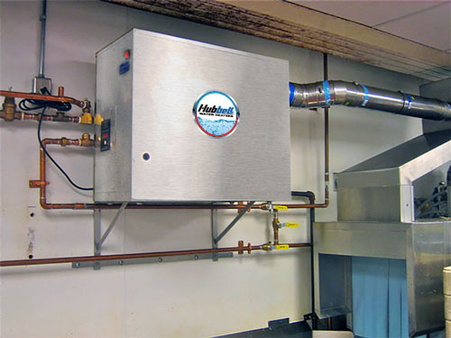 Booster heater wall mounted